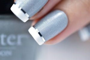 Light silver Nail Design