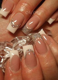 White French Tip Nail Design-2