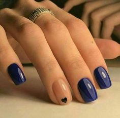 Blue Nail Polish Designs-6 Valentine's Day nails