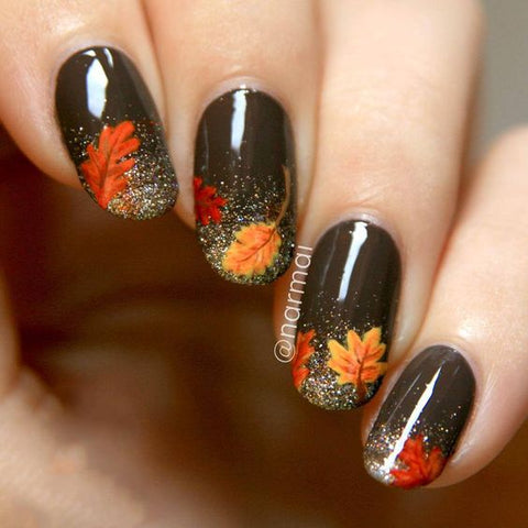 Hottest 80+ Cute Fall Nail Designs 2018 - Hottest 80+ Cute Fall Nail Designs 2018 BeautyBigBang