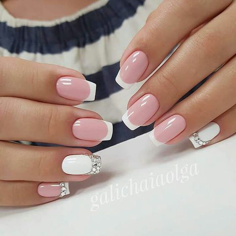 French manicure nail design - 30+ French Manicure Nail Designs For 2018 BeautyBigBang