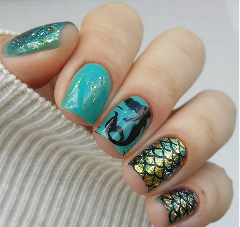 Latest summer stamping nail art design collection