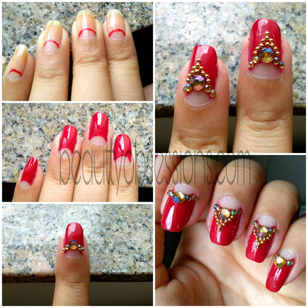 India bridal nail art tutorial
