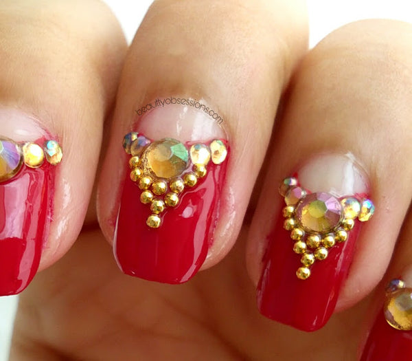 Indian Bridal Nail Art Tutorial