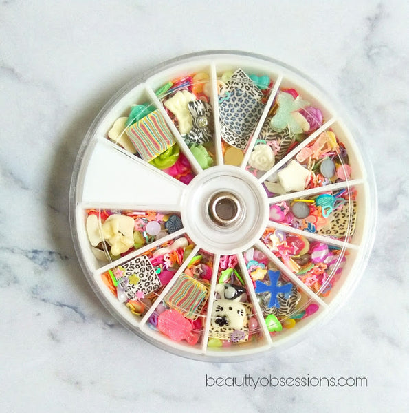 Floral Slice Nail Decoration Wheel