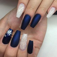 Christmas Nails-10 Navy nails