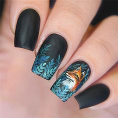 Oil Painting Autumn Nail Design