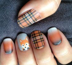 Lattice Autumn Nail Design