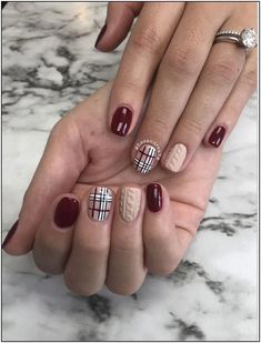 Lattice Fall Nail Art Idea