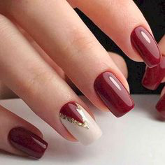 Elegant Fall Nail Art Idea