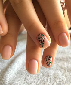 Sprout Fall Nail Art Idea