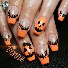 Grimace Fall Nail Art Idea