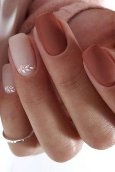 Simple Nude Autumn Nail Design