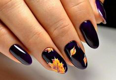 Water Decals Autumn Nail Design