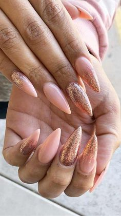 Nude Stiletto Summer Nail Designs