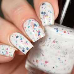 Colorful Spot Spring Nail Design