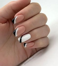 French Square Nail Design