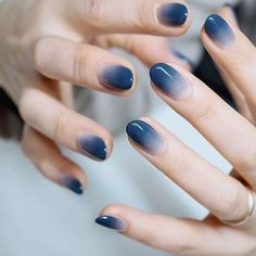 Blue Nail Polish Designs-15 Ombre nails