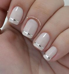 White French Tip Nail Design-12