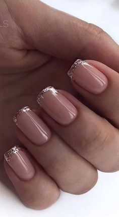 French Tip Short Nails
