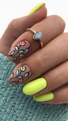 Glass style Almond Nail Design
