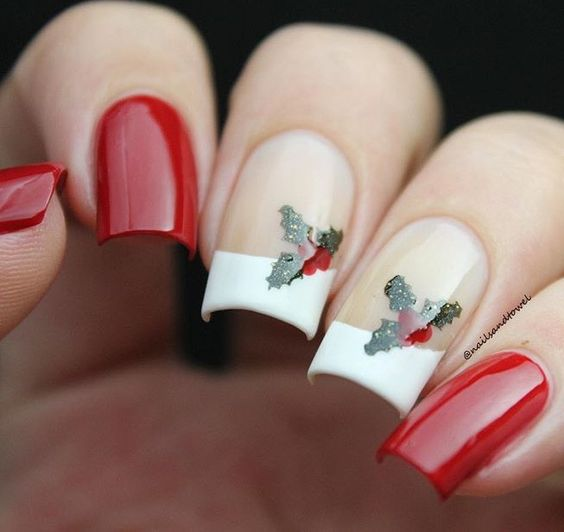 hottest 50 christmas nail ideas for 2017 34