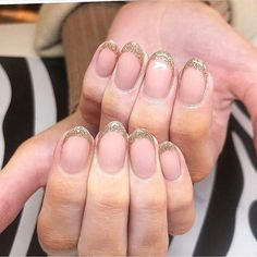Round French Summer Nail Designs