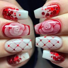 Rose Valentine's Nail Art Idea