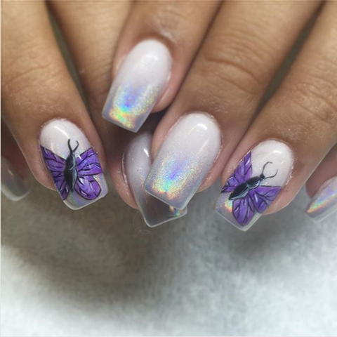 butterfly nail art design