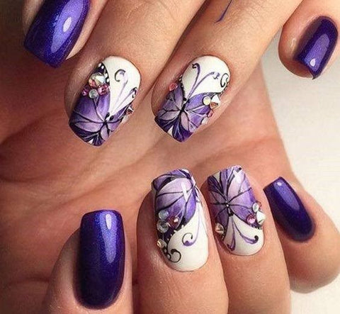 Image result for butterfly gel nails