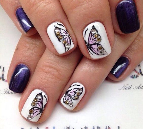 Butterfly Nail Art Designs 2018