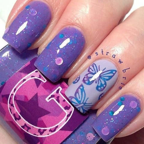 30butterfly Nail Art Designs 2018 Beautybigbang