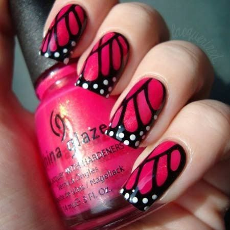 30+Butterfly Nail Art Designs 2018