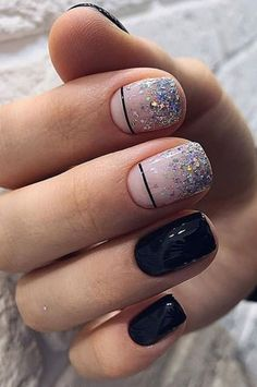 Glitter Powder Short Nails