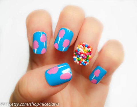 candy nail design