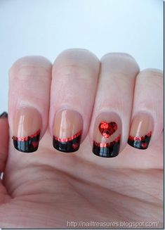 Valentine day nails-8