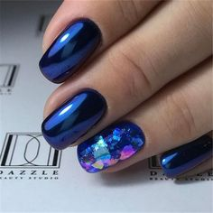 Blue Nail Polish Designs-12 Gel nails