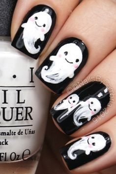 Ghost Nail Art Design-1