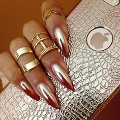 Metallic Mirror Nails-10