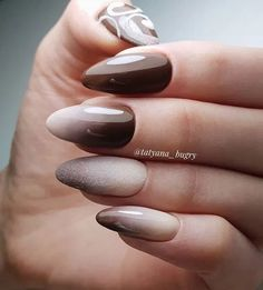 Ombre Oval Nail Design