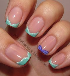Pretty Nail Design-13 Mermaid tail french nails
