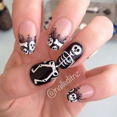 Ghost Nail Art Design-3