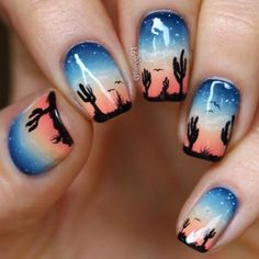Western wilderness Summer Nail Designs