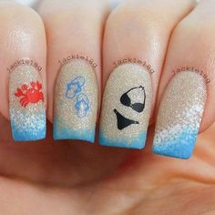 Summer Beach Sign Nail Designs