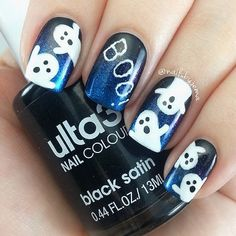 Ghost Nail Art Design-8