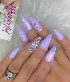 Glitter Nail Art Designs-9 Holographic nails