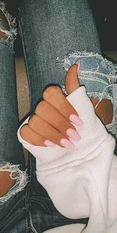 Nude Coffin Nail Design