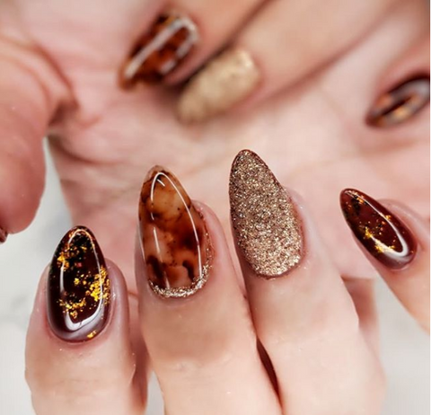 fall nail designs - Hottest 80+ Cute Fall Nail Designs 2018 BeautyBigBang