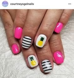 Summer Pineapple Nail Designs