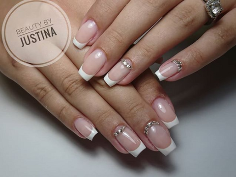 french manicure nail designs - 30+ French Manicure Nail Designs For 2018 BeautyBigBang
